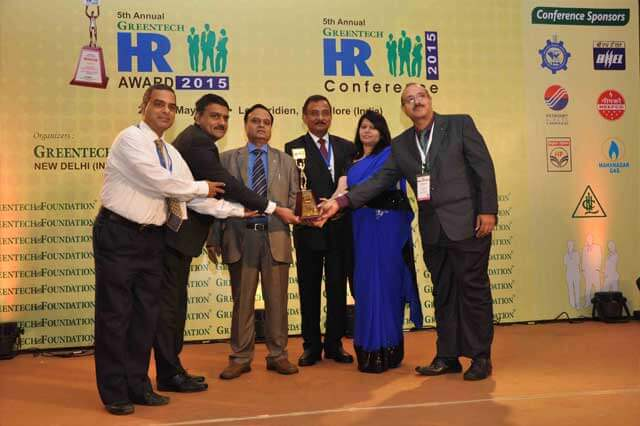 5th Annual Greentech 2015 HR Gold Award in Training Excellence, awarded by Greentech Foundation.