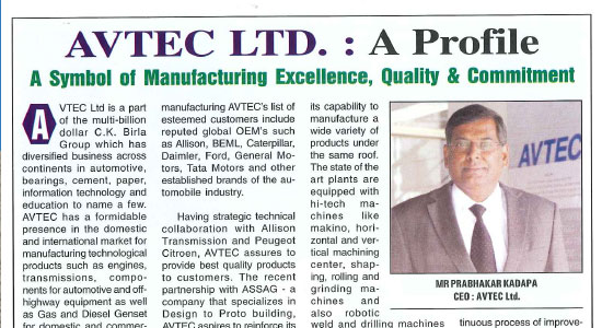 AVTEC Ltd A symbol of manufacturing, excellence, quality and commitment